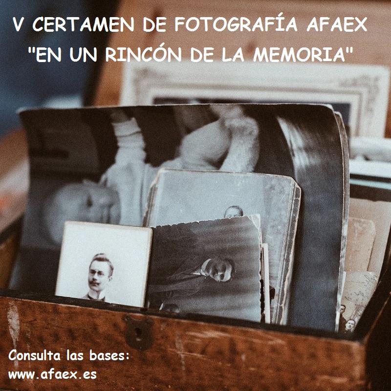 V Certamen de Fotografía, AFAEX 2020 «En un Rincón de la Memoria»